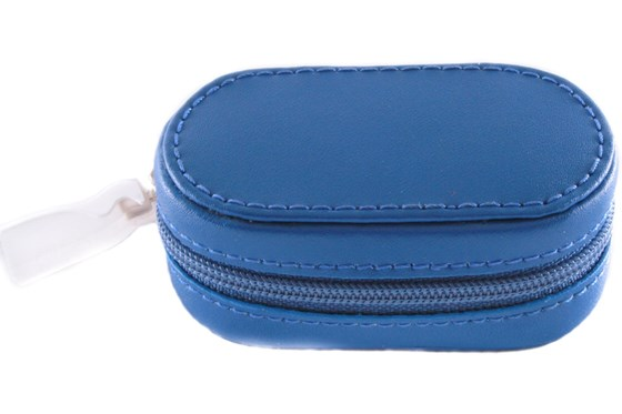 Amcon Leather Contact Lens Cases Cases - Blue