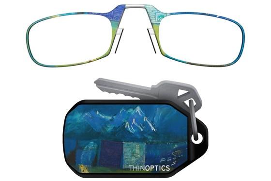 ThinOPTICS Keychain Case & Readers - Design ReadingGlasses - Multi