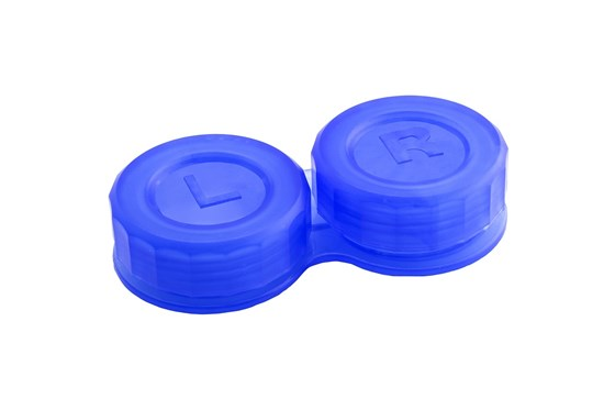 General Boilable Screw-Top Contact Lens Case Cases - Blue